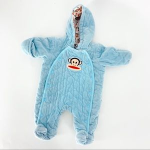🌼 PAUL FRANK quilted newborn bunting suit monkey